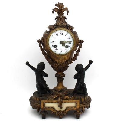 Ancien Horloge Pendule Napoleon III en bronze doré - début 20ème siècle
