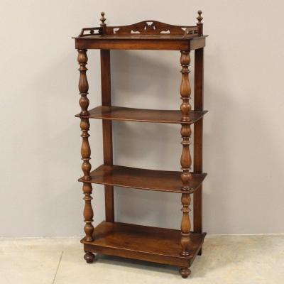Antique Louis Philippe Shelf In Walnut – 19th