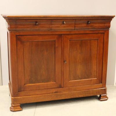 Antique Louis Philippe Sideboard Dresser Cabinet Cupboard Buffet In Walnut – 19th