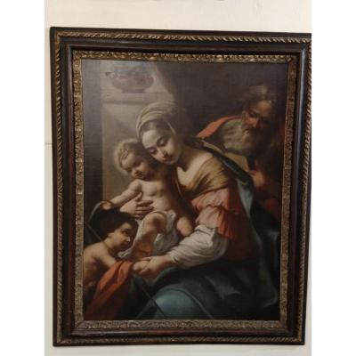 Holy Family Oil On Canvas Mid-seventeenth Century