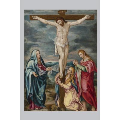 Crucifixion Avec La Vierge, Saint Jean Et Marie Madeleine