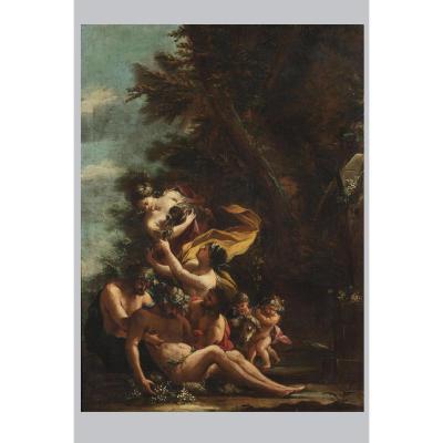Attribué à Michele Rocca (1671-1751), Bacchus Ivre, Huile Sur Toile