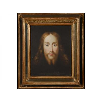 Face Of Christ, French School Of Eighteenth Century
