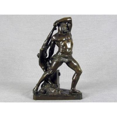 Hercule Et Lycien, Sculpture En Bronze