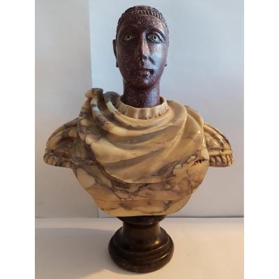 Sculpture Représentant Un Empereur Romain