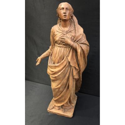 Sculpture En Terre Cuite De Marie Madeleine - Fin du 18éme siècle