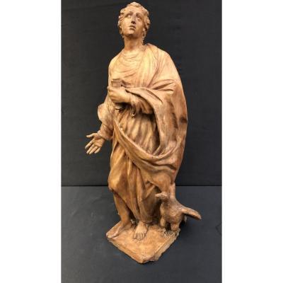 Sculpture En Terre Cuite De San Giovanni Evangelista