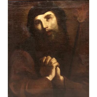 San Francesco Di Paola Oil On Canvas - Atelier Giuseppe Maria Crespi