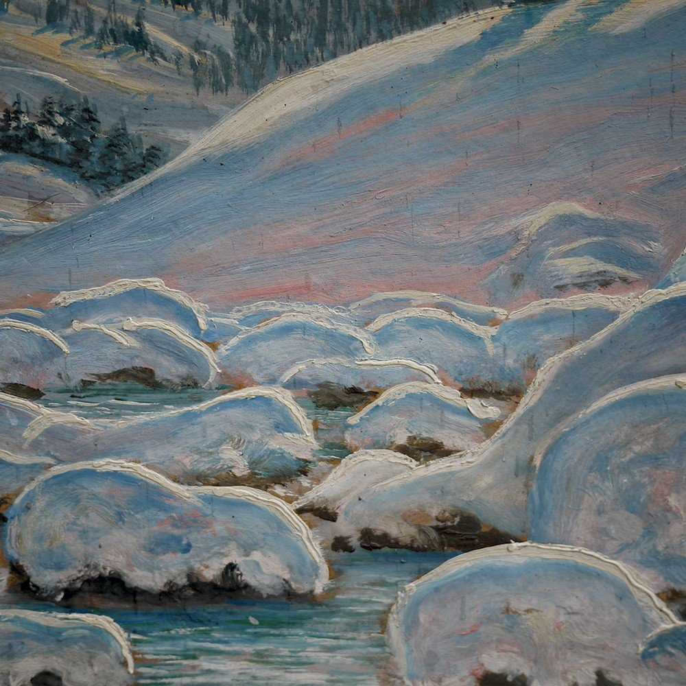 Hiver Au Tyrol, Paysage Enneigé - Alfred Kusche-photo-3