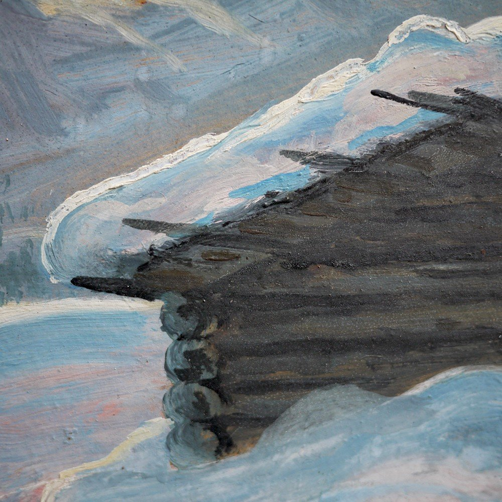 Hiver Au Tyrol, Paysage Enneigé - Alfred Kusche-photo-5