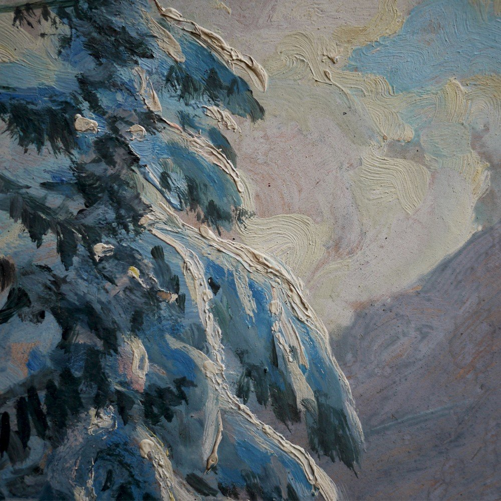 Hiver Au Tyrol, Paysage Enneigé - Alfred Kusche-photo-7