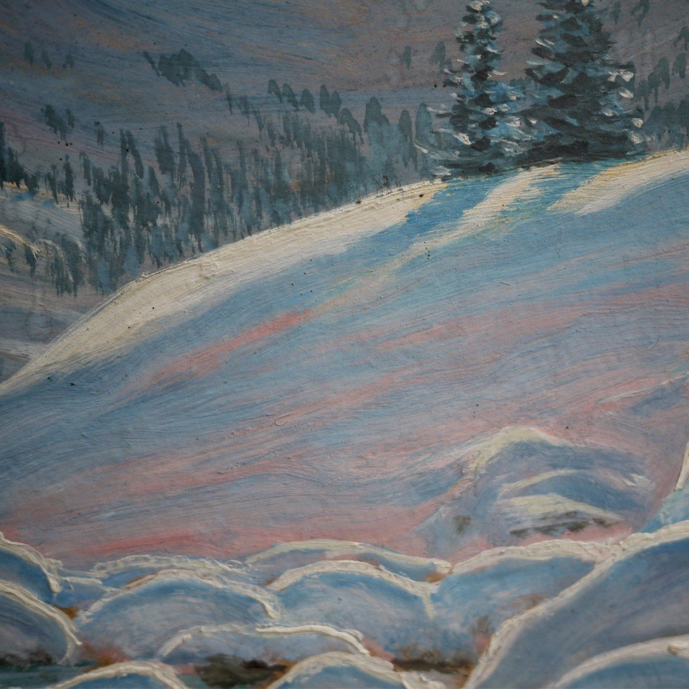 Hiver Au Tyrol, Paysage Enneigé - Alfred Kusche-photo-8