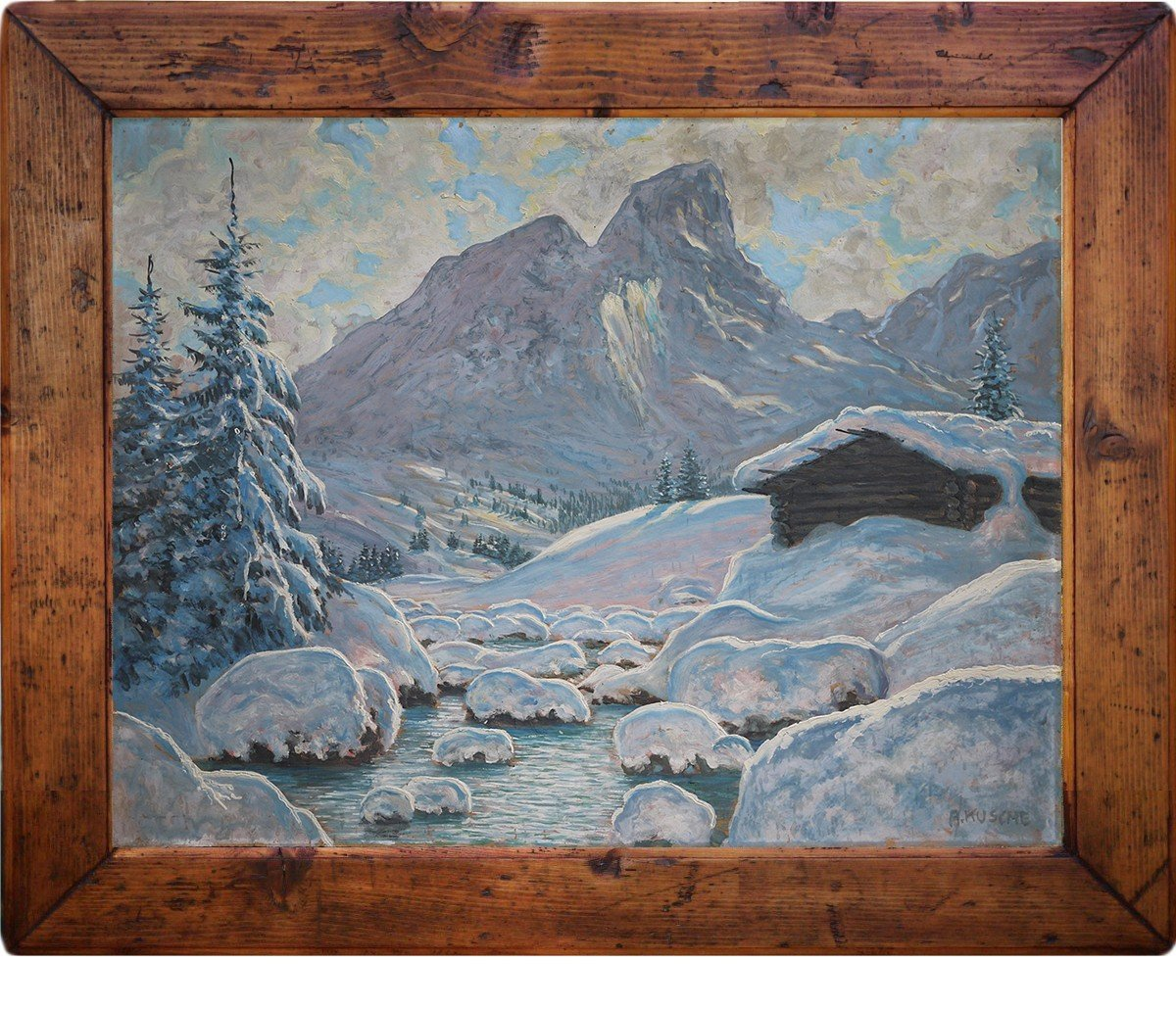 Hiver Au Tyrol, Paysage Enneigé - Alfred Kusche