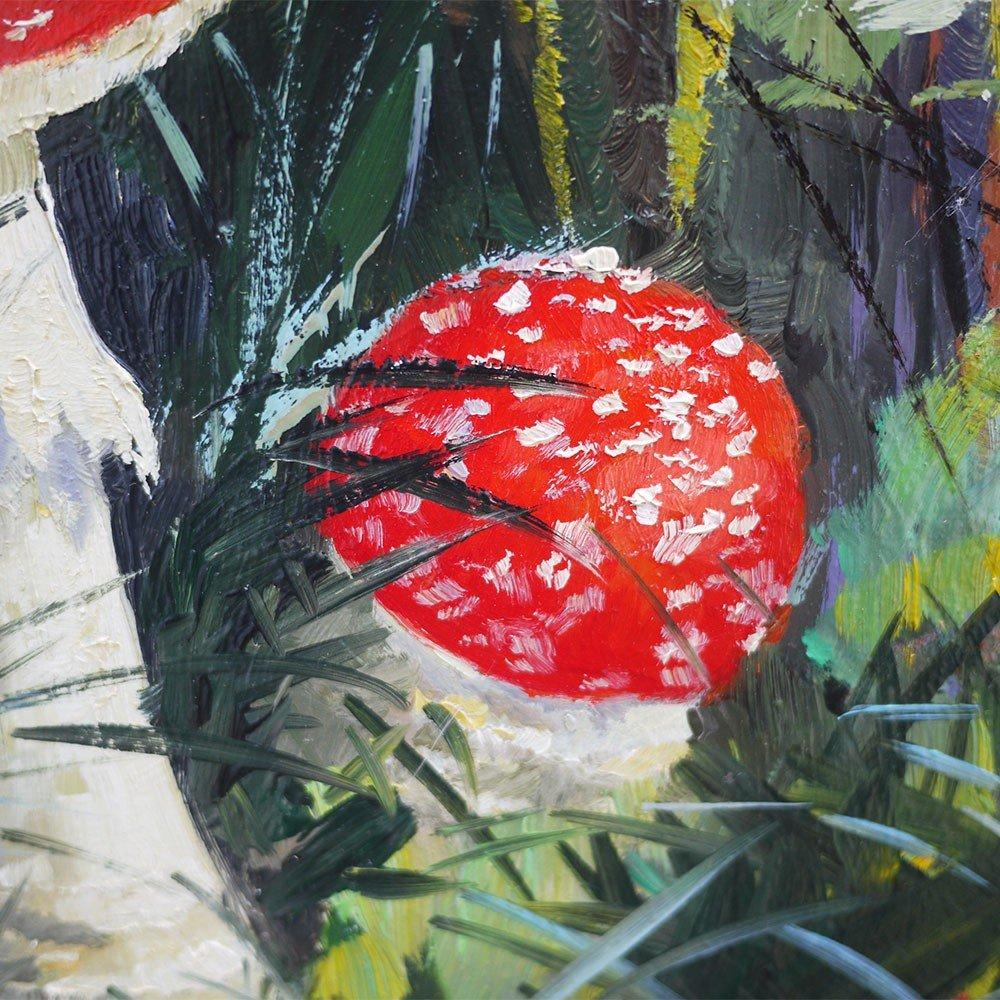 Tableau Nature Morte Champignons Amanita Muscaria - Carl Braml-photo-1