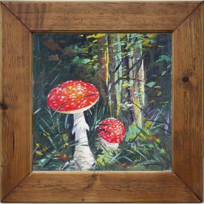 Tableau Nature Morte Champignons Amanita Muscaria - Carl Braml