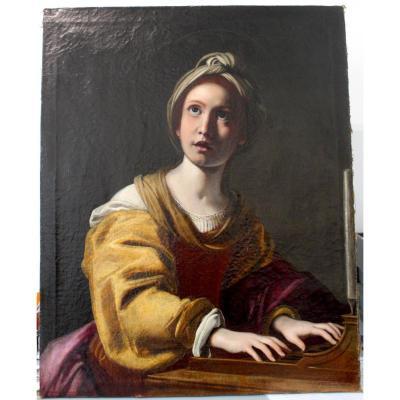 Santa Cecilia Atelier Du Domenichino XVIIème