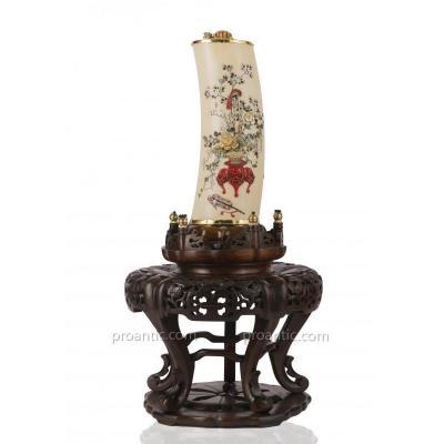 Vase Japonais Travail Shibayama Du Période Meiji