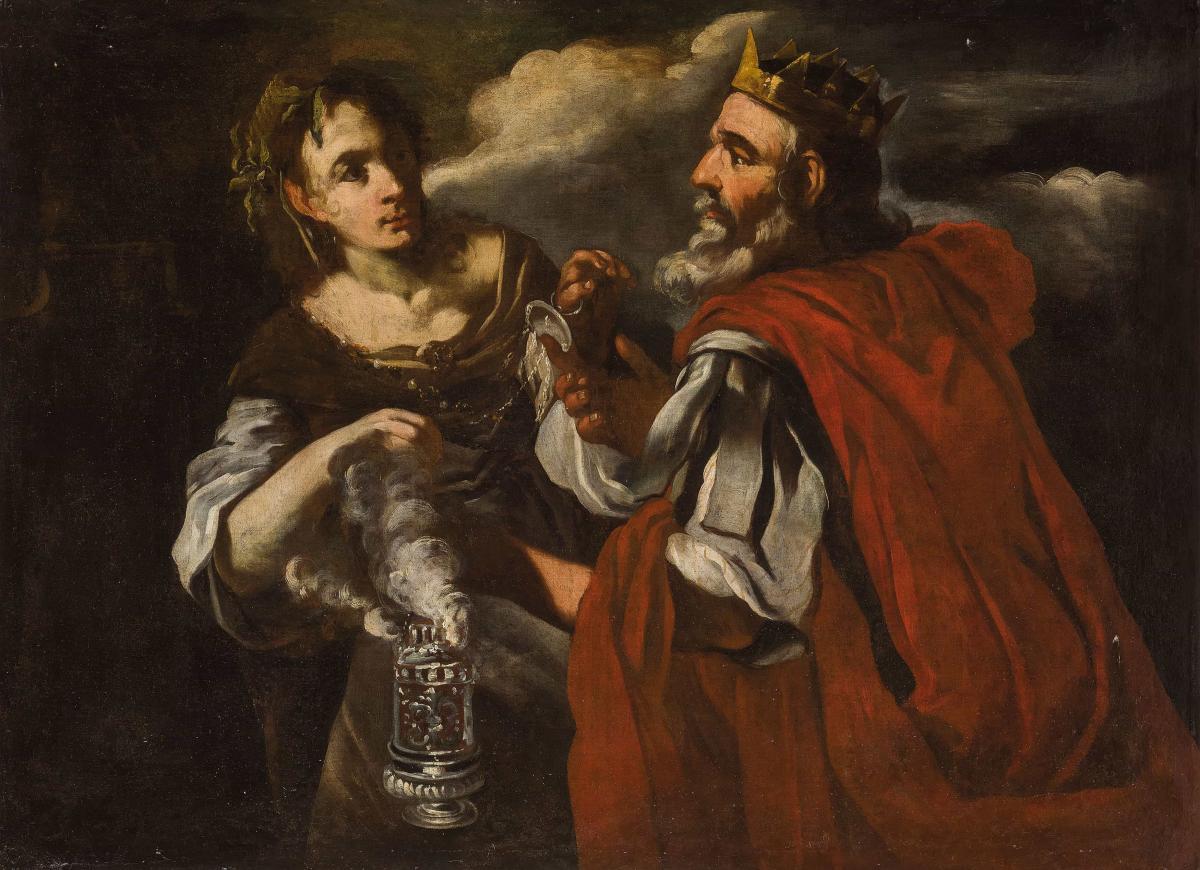 Salomon Encense Les Idoles Roma XVIIème siècle