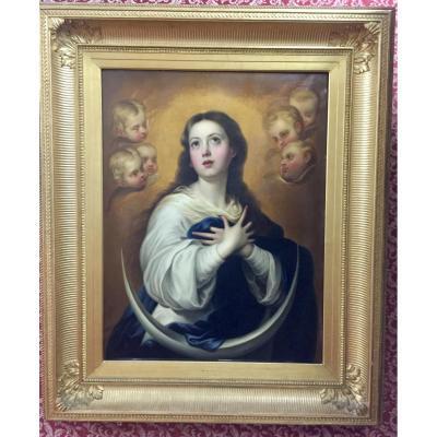 Vierge Aux Chérubins 19ème Siècle