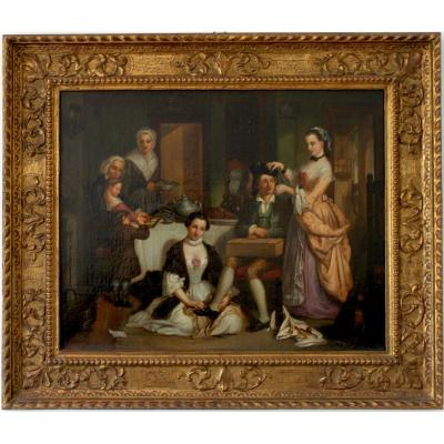 Scène d'Intérieur En Angleterre Début Du XIXe Siècle