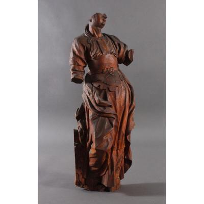 Sculpture En Bois Du XVIIe Siècle