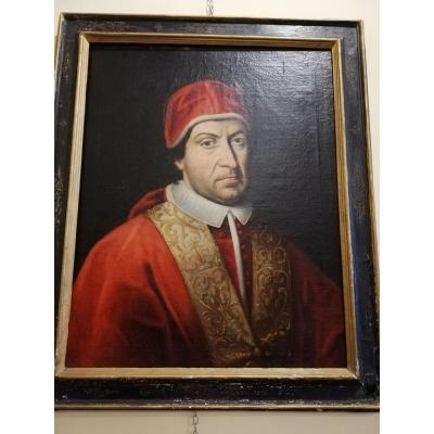 Painting Representing A Pope From The 17th Century