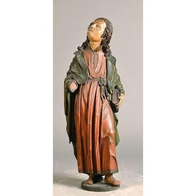 Wood Sculpture Of Saint John, Half Of The XVIth Century