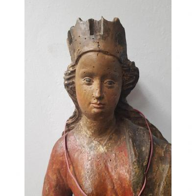 Vierge Couronnée Du XVIe Siècle