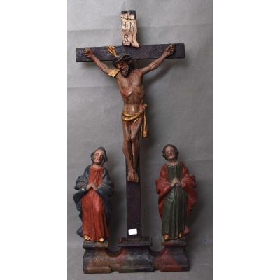 Crucifixion En Bois Du XVIIe Siècle