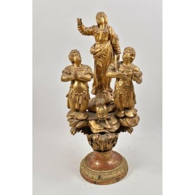 Groupe De Sculptures Baroques Du XVIIe Siècle
