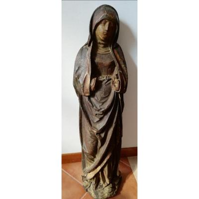 15th Century Wooden Virgin - 1470 - 1480