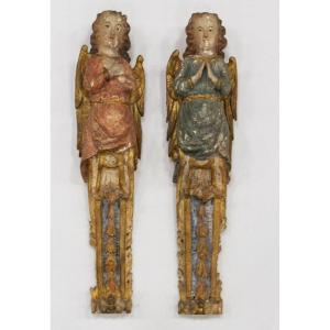 Paire d'Anges Cariatides - XVIIIe Siècle