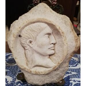 Fragment de pierre relief du 16ème siècle - Empereur