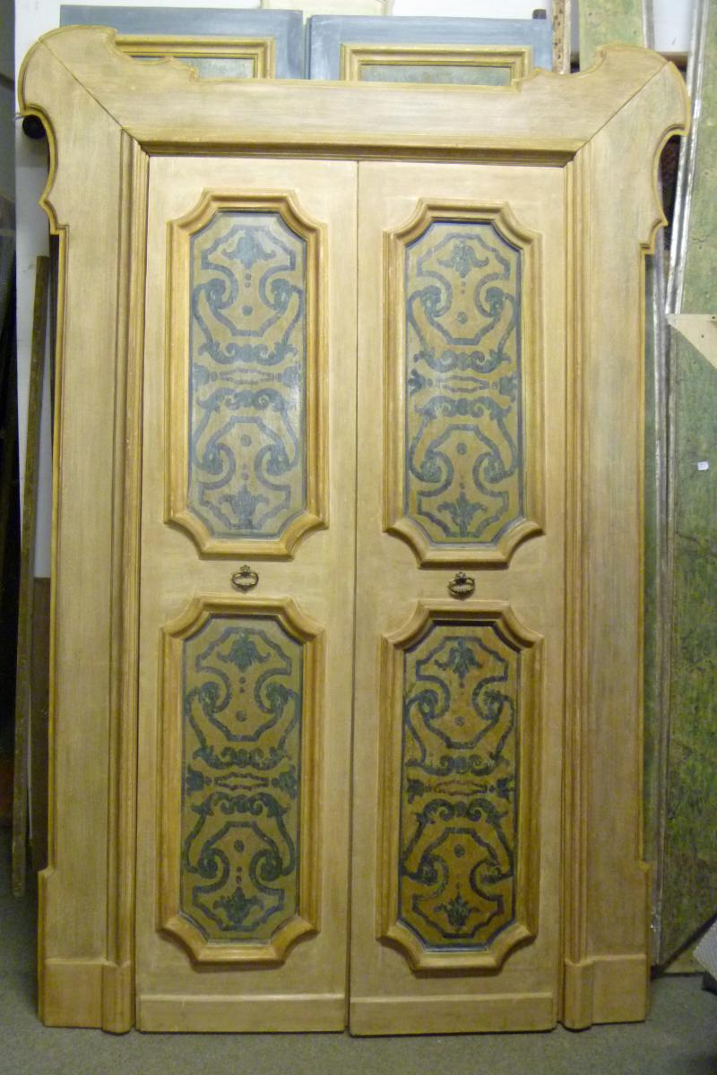 Door Painted Tempera With Its Frame