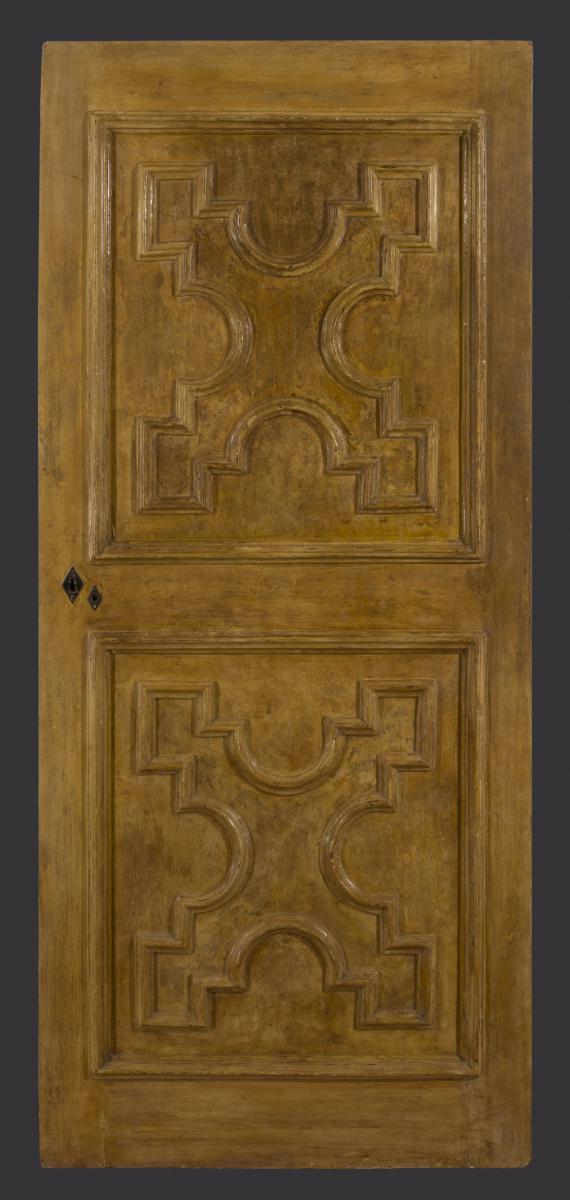 An Italian Baroque Lacquered Door
