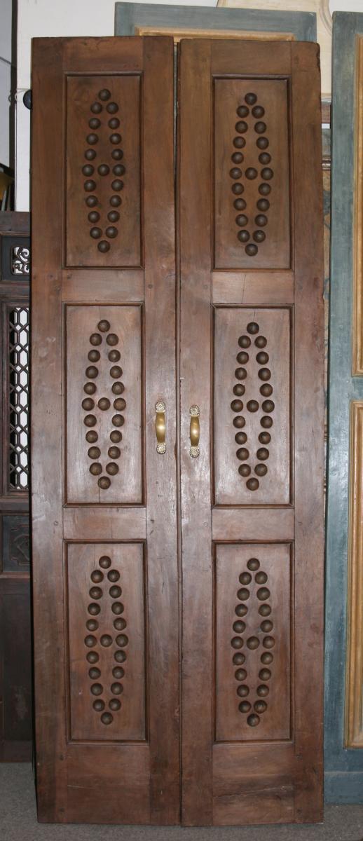 Pair Of Walnut Deco Doors