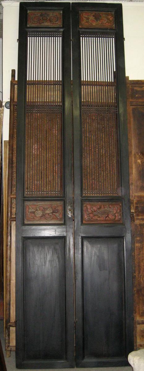 Deux Paires De Portes Chinoises