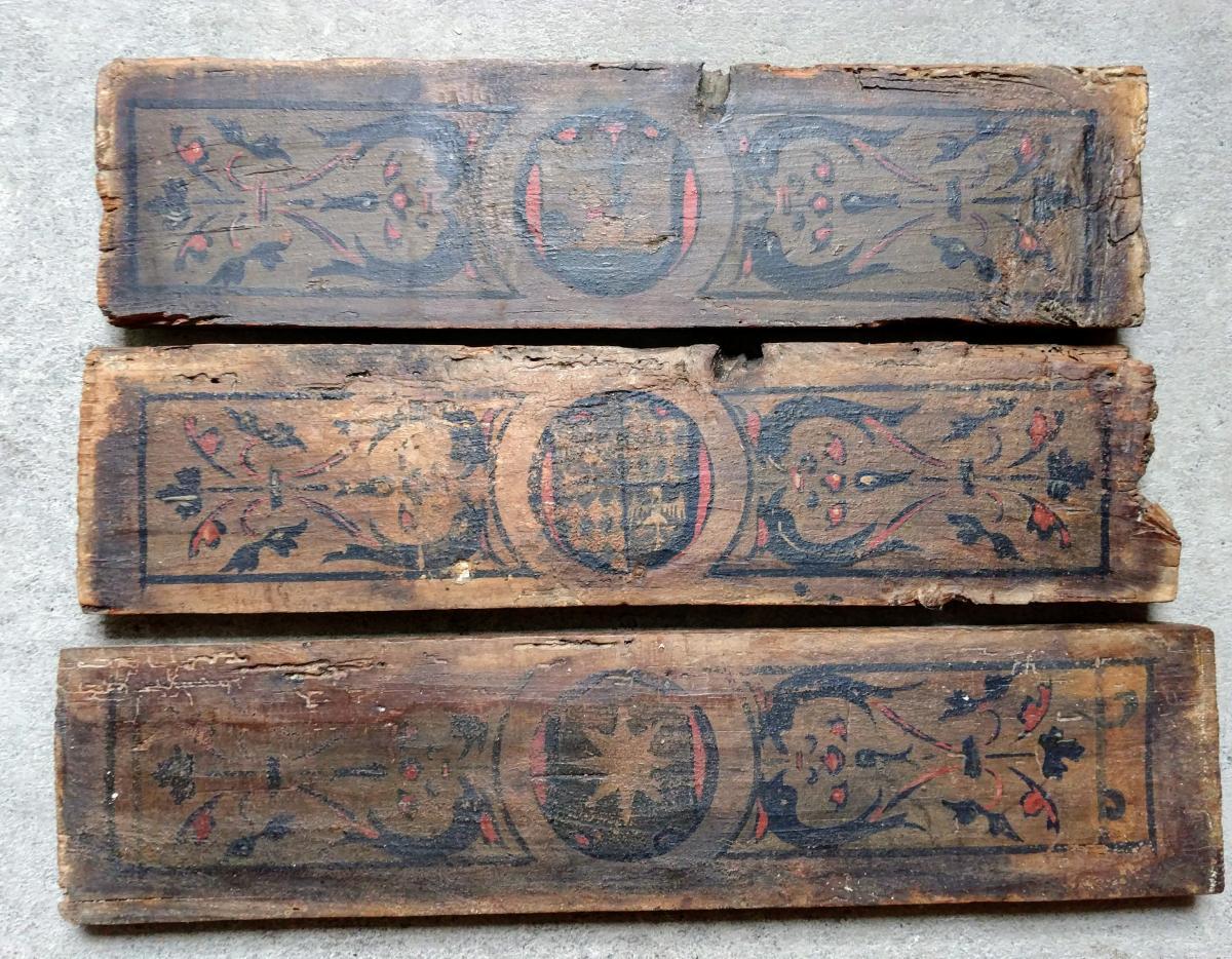 3 Ceiling Panels XVth Century