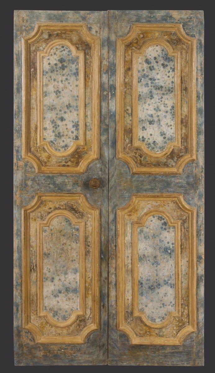 Italian Door Faux Marble XVII Century
