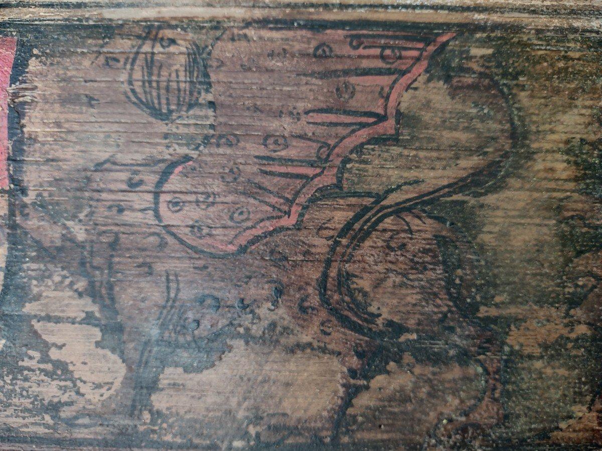 02 Panneaux En Bois Peint Renaissance Italienne-photo-1