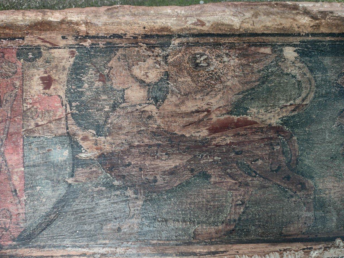 02 Panneaux En Bois Peint Renaissance Italienne-photo-2