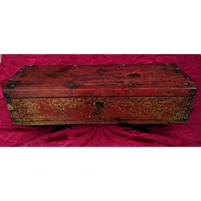 Boîte Birmane Laquée Et Dorée XIXe Siècle