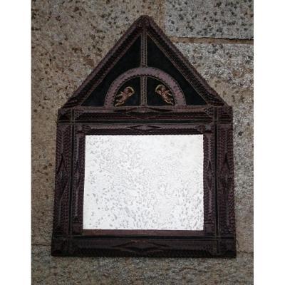 Miroir En Bois Sculpté Début XIXe Siècle