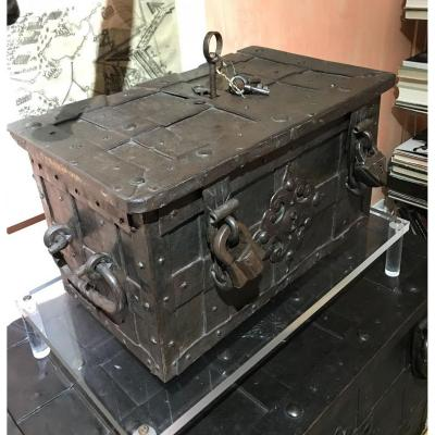 Nuremberg Iron Chest In Exceptional Conditions