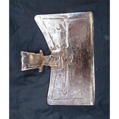 Hache (doloire) En Fer Forgé XVIIe Siècle