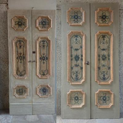 Pair Of Neapolitan Doors Painted XVIIth Century