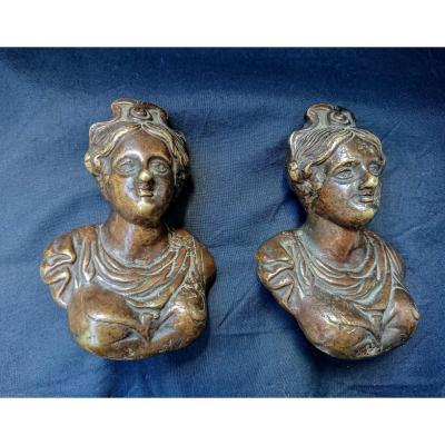 Paire De Poignées En Bronze Louis XIV