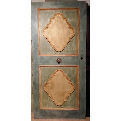 Baroque Door Painted In Tempera Italy XVIIth Century