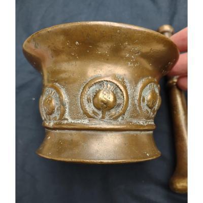 Mortier En Bronze XVIIe Siècle