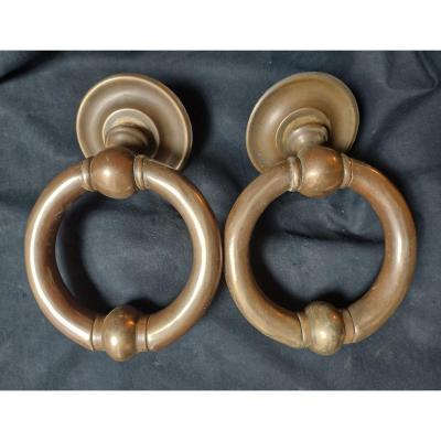 Pair Of 19th Century Bronze Knockers